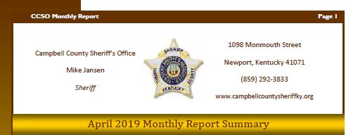 April 2019 Monthly Report Available